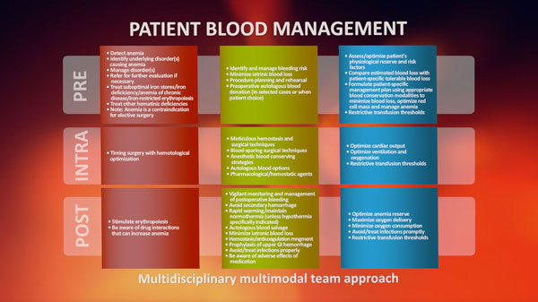 3 Pillars of Patient Blood Management
